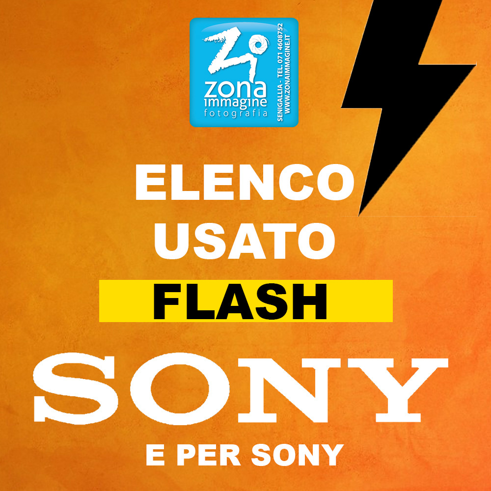 ELENCO USATO FLASH SONY e per SONY