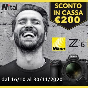 NIKON Z6 SCONTO IMMEDIATO IN CASSA €200