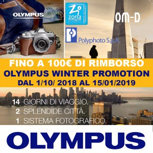 OLYMPUS WINTER PROMOTION dal 1/10/2018 al 15/1/2019