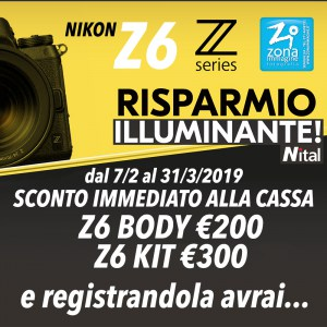 NIKON Z6 - SCONTO IMMEDIATO ALLA CASSA E REGISTRANDOLA...