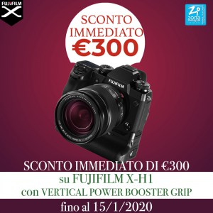 FUJIFILM X-H1 con VERTICAL POWER BOOSTER GRIP €300 SCONTO IMMEDIATO